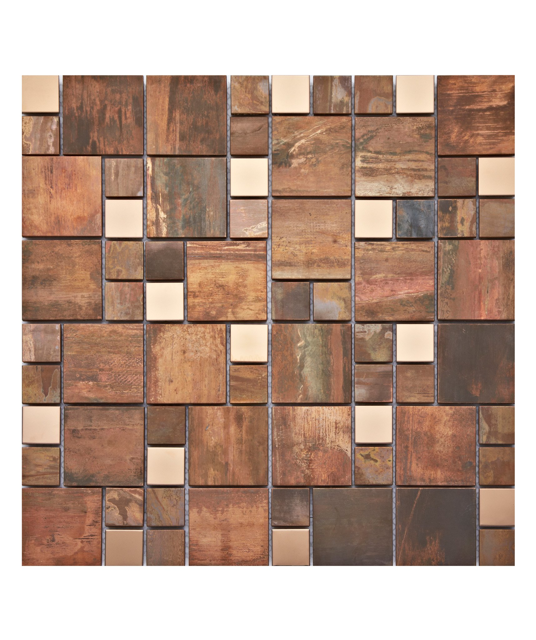 Copper Fusion Modular Mix Mosaic Tile Topps Tiles