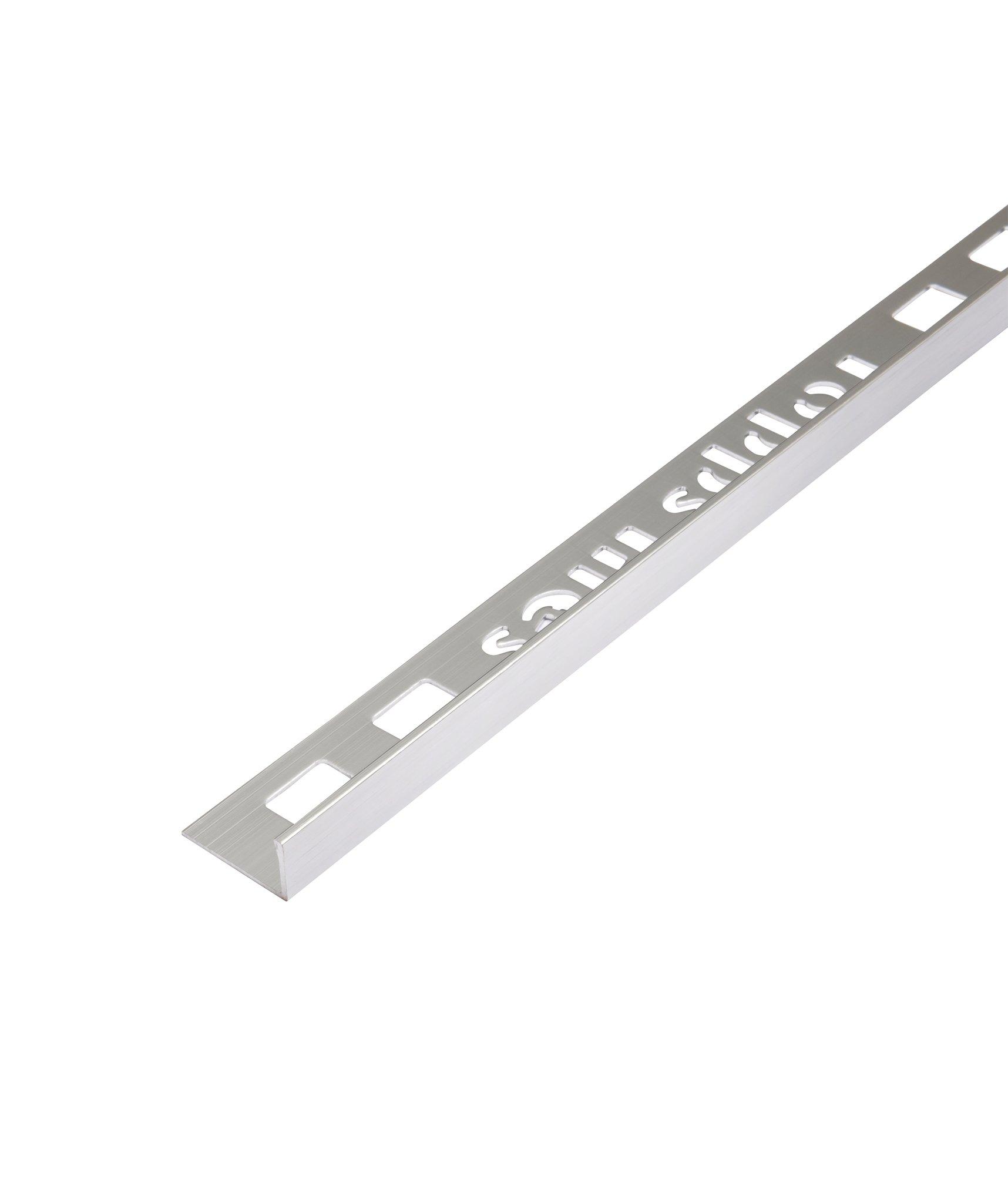 topps tiles 8mm stainless steel effect straight edge trim